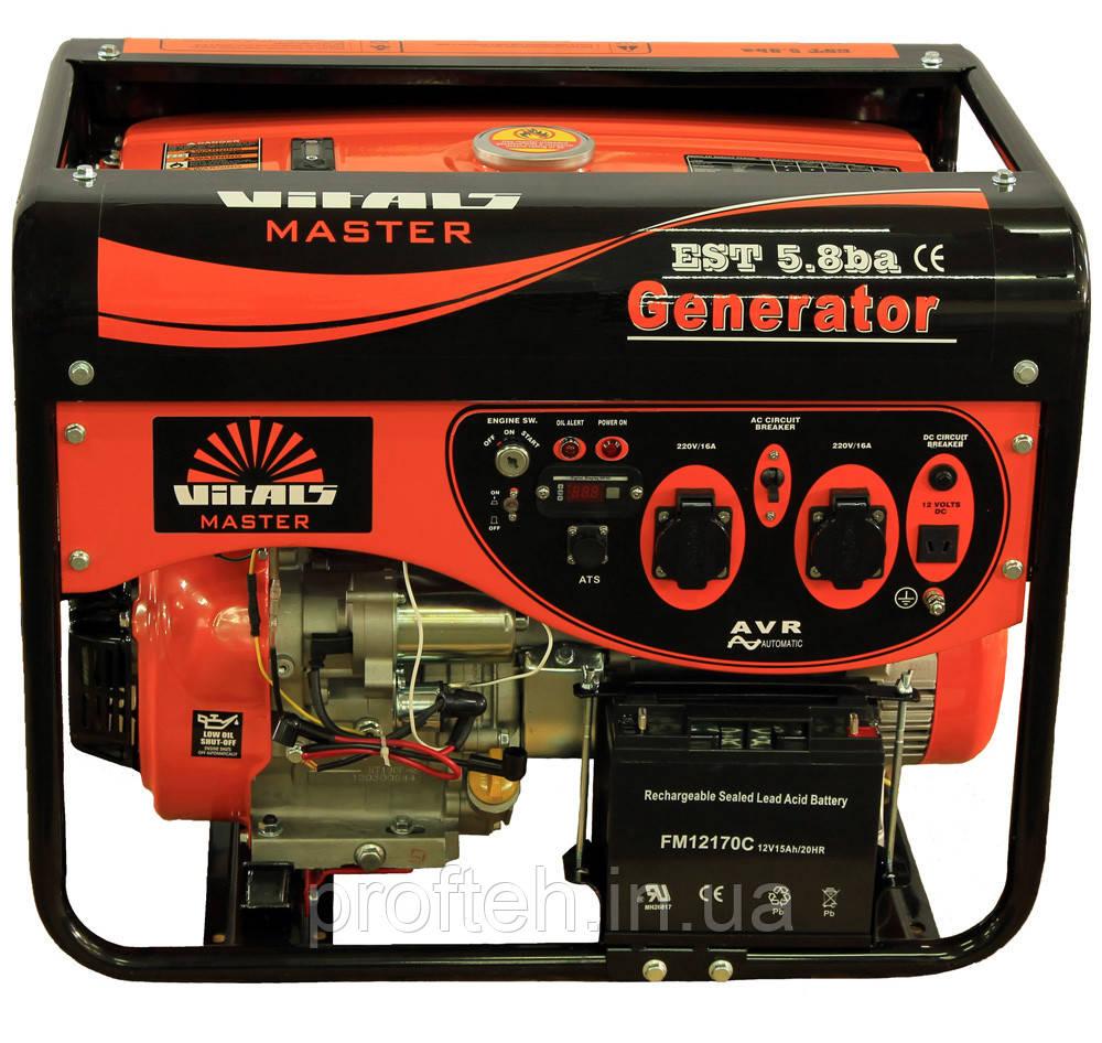 Генератор бензиновый Vitals Master EST 5.8ba (5,8 кВт, электростартер) Бесплатная доставка