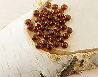 Бусина рондель стекло коричневая (10шт) 4мм (товар при заказе от 500грн)