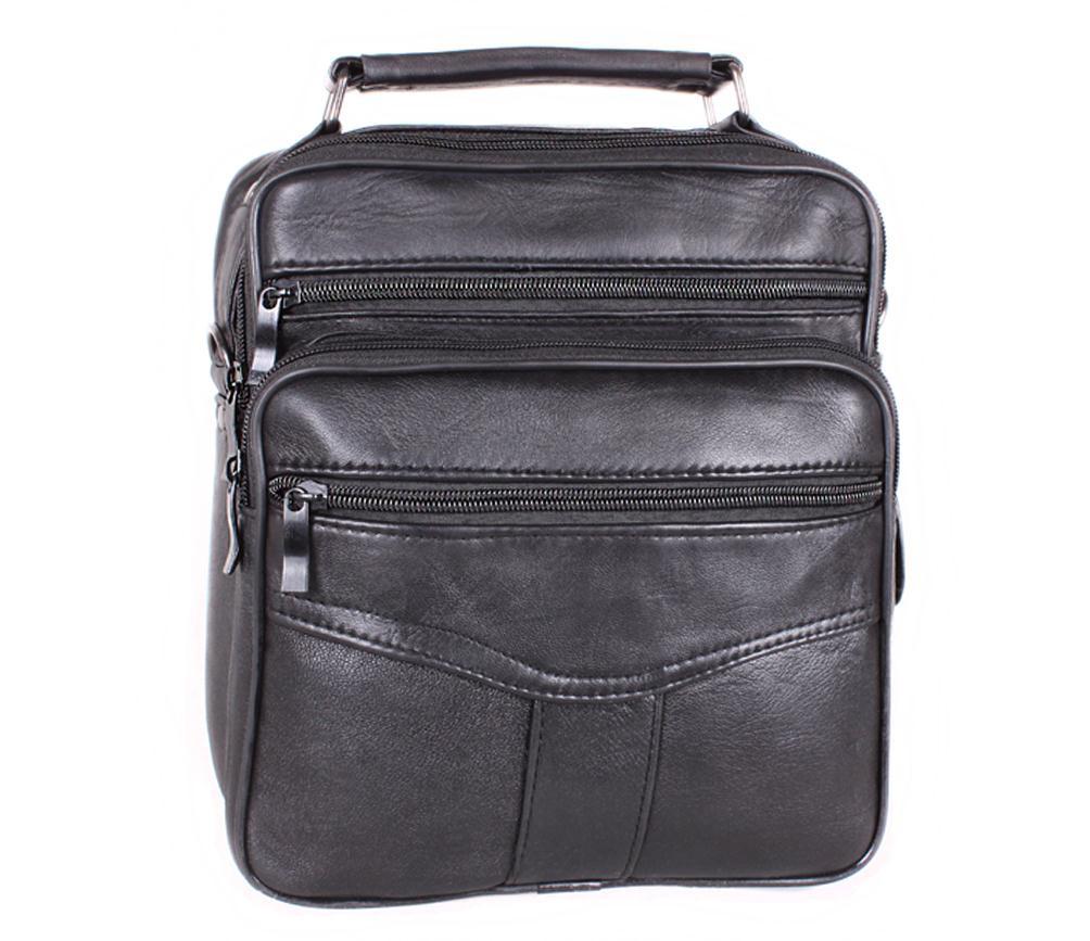Мужская кожаная сумка 301891 черная