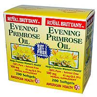 Масло вечерней примулы (Evening Primrose Oil), American Health, 2 бут. по 200 к.