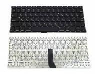 """Клавиатура для ноутбука APPLE (MacBook Air: A1369, MC503, MC504 (2010) 13.3"""") rus, black, горизонтальный Enter"""