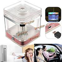 LED мини-офис увлажнителя квадрата USB домашний автомобильный распылитель aromatheraphy воздухоочистителя света эфирного масла лампы