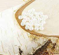 Бусина рондель стекло белая (10шт) 4мм