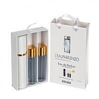 Подарочный парфюмерный набор с феромонами Kenzo L`eau par Kenzo pour femme (Ле Пар Кензо пур Фем) 3x15 мл