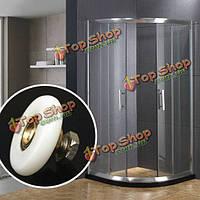 25мм 27мм душ стеклянная дверь одного нижние колеса ванной раздвижные ролики бегунов оборудование