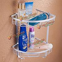 Алюминий удваивает треугольник слоя coner стенд держателя всякой всячины ванной стеллажа