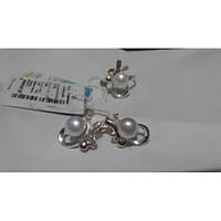 Нежный набор 227из серебра 925 пробы с напайками золота 375 пр и 17. 5р 18.5, фото 1