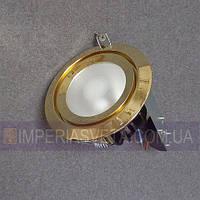 Светильник точечный встраиваемый для подвесного потолка IMPERIA неповортотный со стеклом LUX-113214