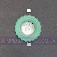 Светильник точечный встраиваемый для подвесного потолка IMPERIA стеклянный открытый LUX-125045