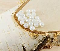 Бусина рондель белая (10шт) 6мм (товар при заказе от 500грн)