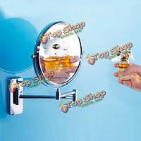 Из нержавеющей стали складная Fexible стене ванной зеркало двойной стороне повернуты косметическое зеркало