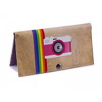 Женский кошелек -Фото радуга-. Ручная работа