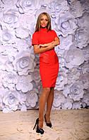 Женский костюм: платье+жакет №232 (р.42-46) красный, 42