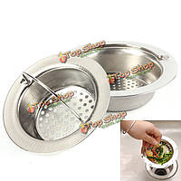 Портативная кухонная утечка отходов ванной сита слива нержавеющей стали фильтрует устройство обработки отходов