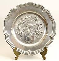 Тарелка оловянная, олово, Германия, NEUSTAD, 24 см