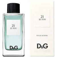 Туалетная вода для мужчин и женщин Dolce & Gabbana 21 Le Fou (Дольче и Габбана 21 Ле Фу)