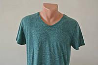 Зеленая летняя мужская футболка
