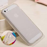 Бампер-чехол для Айфон 5 силиконовый, прозрачный