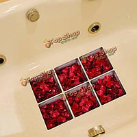 PAG 6шт 13x13см roseleaf шаблон 3D анти скольжения водонепроницаемый ванной наклейки