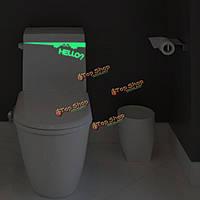Светящееся сиденье для унитаза двери стикер стены винила декора ванной комнаты