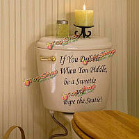 Водонепроницаемый съемная крышка сиденье для унитаза стикер если вы dribblre стене ванной комнаты переводных домашнего декора