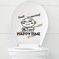 Маленький мальчик туалетной чехол для сиденья наклейка Ванная комната водонепроницаемый closetool этикета стены домашнего декора