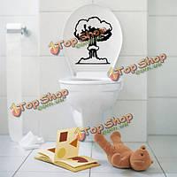 Винил гриб унитаз стикер стены ванной пропуск