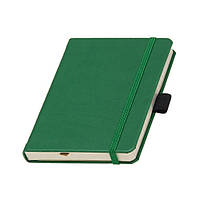 Записная книжка Туксон А6 зеленая обложка, кремовый внутренний блок под тиснение логотипа на обложке, фото 1