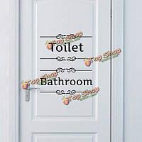 Наклейка на дверь туалета ПВХ 30x15см