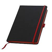 Записна книжка з червоним торцем (зрізом) Туксон А5, Ivory Line, Італія під нанесення логотипу на обкладинці