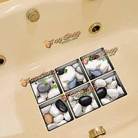 PAG 6шт узор 13x13см булыжник 3D анти скольжения водонепроницаемый ванной наклейки