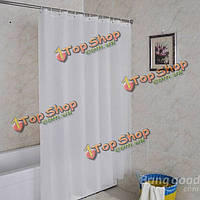 180см белая занавеска для душа водонепроницаемой ткани ванна занавес с крючков 12