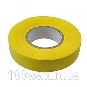 Изолента огнестойкая ПВХ 10м желтая