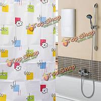 170x180см полиэфирного волокна красочные цветы водонепроницаемый ванной занавеску
