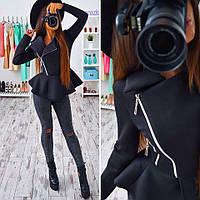 Женская неопреновая куртка с баской