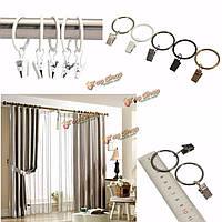 40шт окно металла ванная комната занавес клипы кольца полюс вуаль стержня драпировки 32мм внутренний диаметр