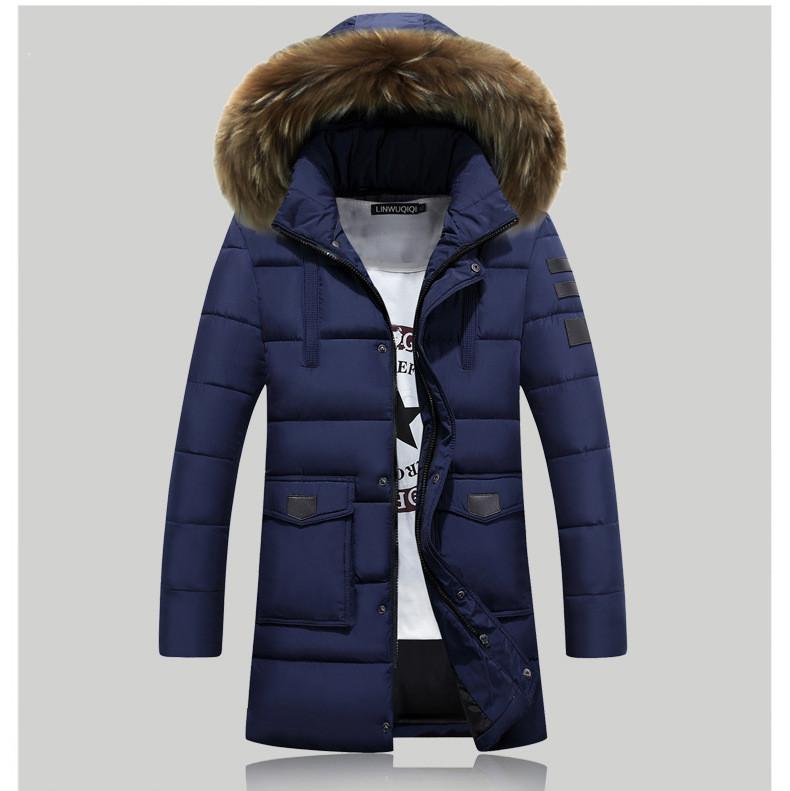 Мужская зимняя куртка с капюшоном. Модель 806