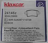 Тормозные колодки Рено Мастер  RENAULT Renault Master I - II 2003> AR  WVA 23669 (598538) 7701206763, фото 2