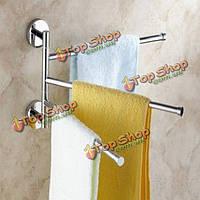 3-рукоятка алюминиевая вешалка для полотенец настенный поворотный ванная комната баров вешалка