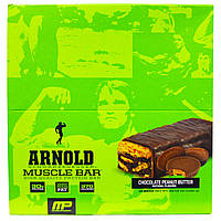 Arnold, Muscle Bar, High Quality Protein Bar, Chocolate Peanut Butter, 12 Bars, 90 g Each