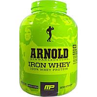 Железная Сыворотка, Сливки и Печенье, Iron Whey, 100% Whey Protein, Arnold, 2.27 кг.