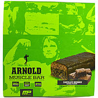 Arnold, Muscle Bar, Chocolate Brownie, 12 Bars, 3.17 oz (90 g) Each