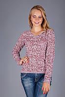 Ажурный пуловер из натуральной хлопковой пряжи