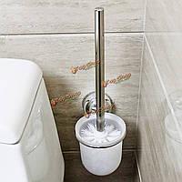 Настенный монтаж матированное стекло чистки туалета щетка держатель комплект ванной Accessary