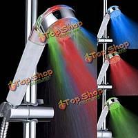 LED регулируемая 3 режим мульти-цвет RGB датчик температуры головки ливня