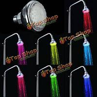 Автоматическое изменение 7 цветов LED душ головной душ