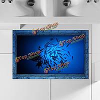 """3d наклейка для ванной """"Рыбки"""" 90 х 58 см"""