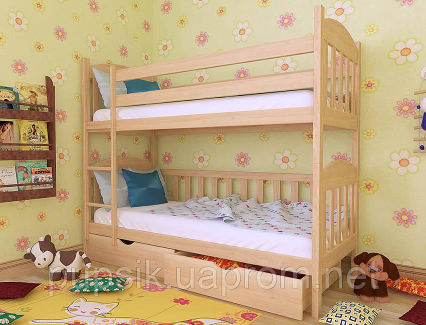 """Кровать двухъярусная трансформер """"Артур"""" Woodland натуральное дерево"""