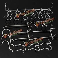 50шт pegboard показывают инструменты организации магазина комплекта ассортимента крюков