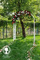 Аренда арки АНГЕЛИНА белой садовой